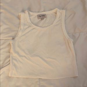 cry baby white tank top